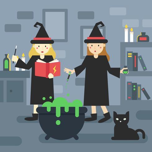 2 alunos de bruxos na escola