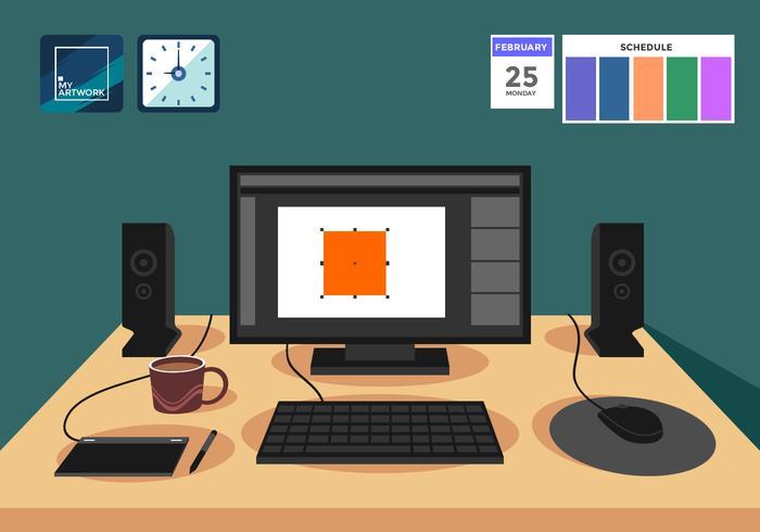 Illustration vectorielle de logiciel de design graphique