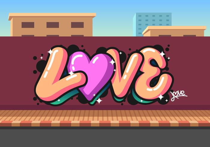 Amor graffiti vector