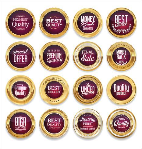 Insignes et étiquettes de luxe premium doré