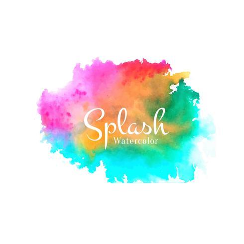 Abstract watercolor splash design vector
