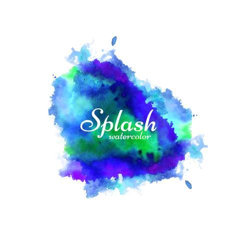Colorful watercolor splash design background