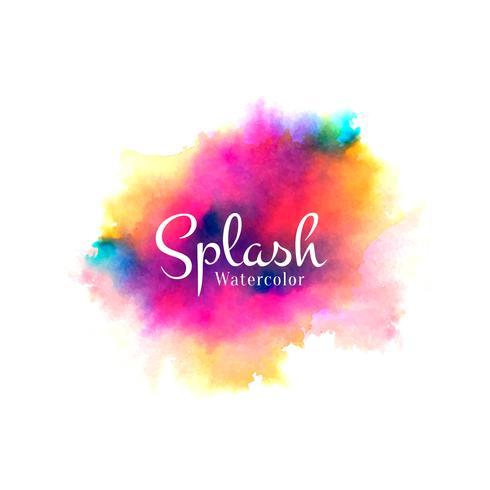 Aquarelle colorée splash design dessiné à la main