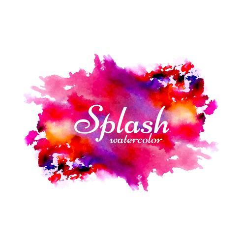 Arrière-plan de conception splash aquarelle dessiné à la main