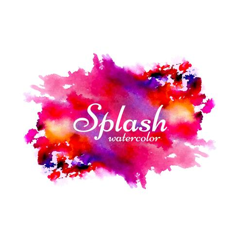 Hand drawn watercolor splash design background vector