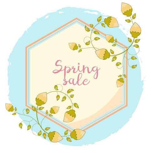 Banner di vendita primavera dei cartoni animati