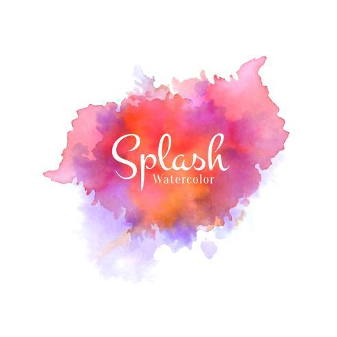 Arrière-plan coloré design aquarelle splash