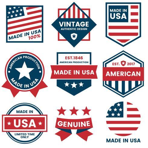 Etiqueta de vector de América para banner