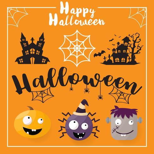 Halloween Hintergrund Vektor Hintergrund