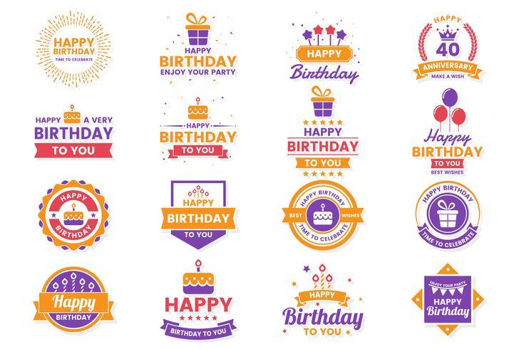 Buon compleanno Logo vettoriale per banner