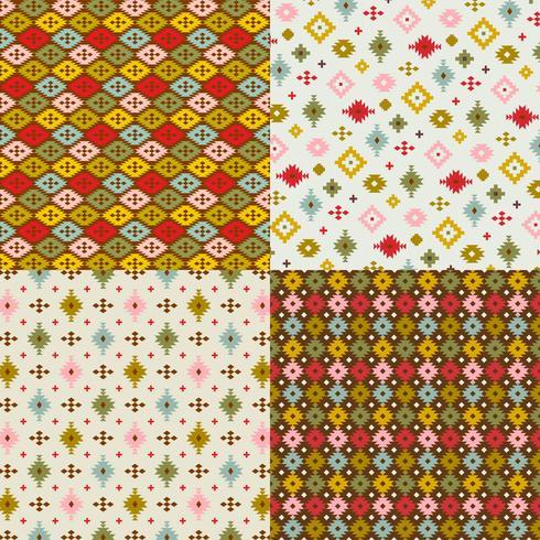 patrones primitivos geométricos vector