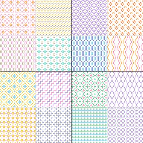 small seamless geometric patterns vector