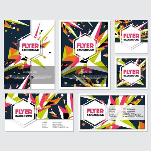 Laag Poly Flyer stijl achtergrond ontwerpsjabloon