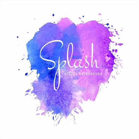 Abstract colorful soft watercolor splash