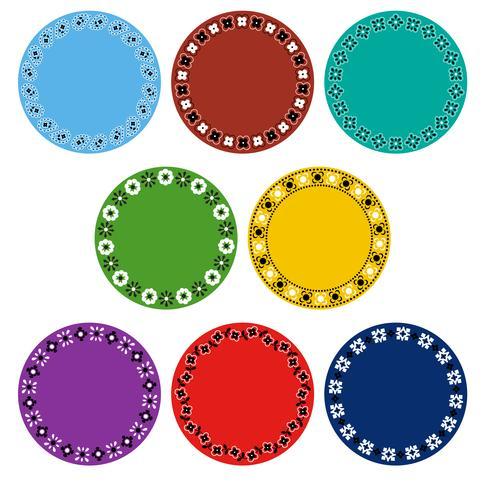 quadros coloridos do círculo do bandana