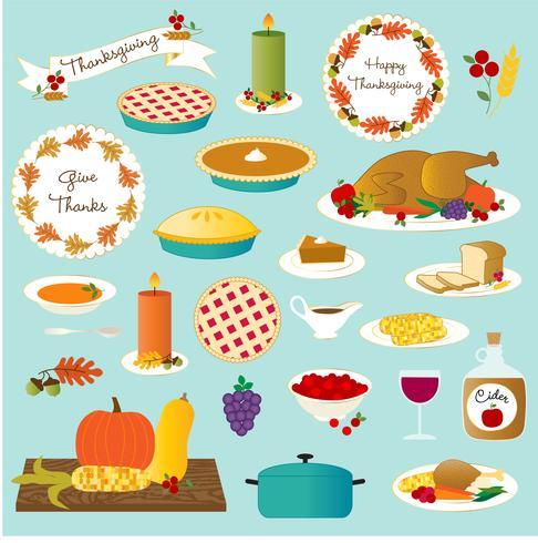 thanksgiving food vector