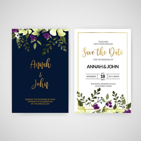 Stor bröllopsinbjudan