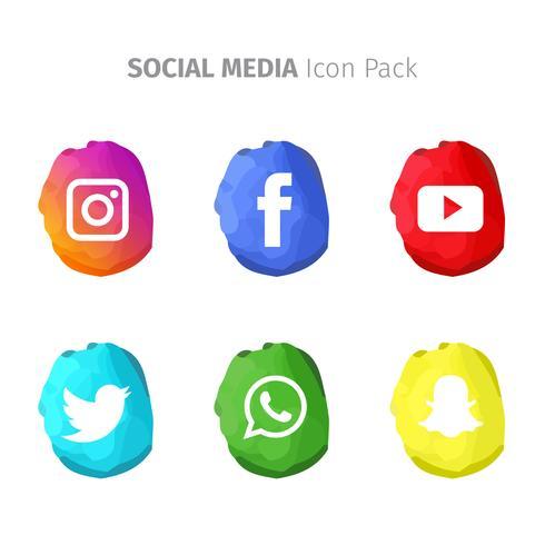 Media sociali popolari astratti