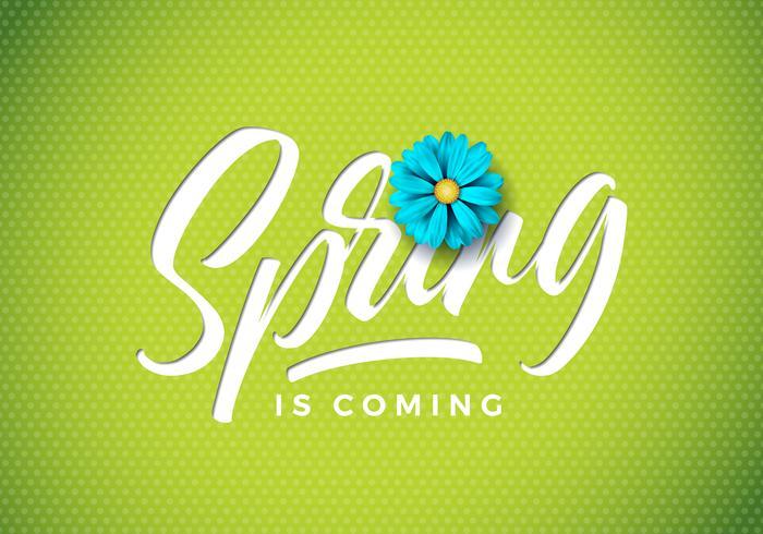 våren kommer på illustration