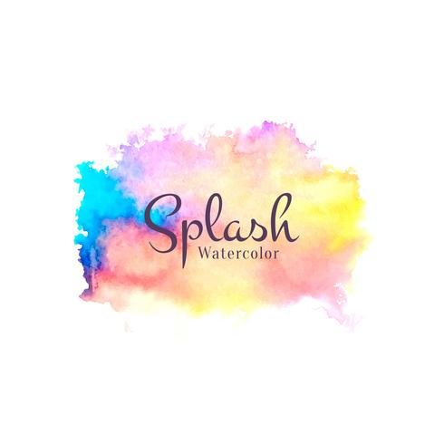 Abstract watercolor splash design background