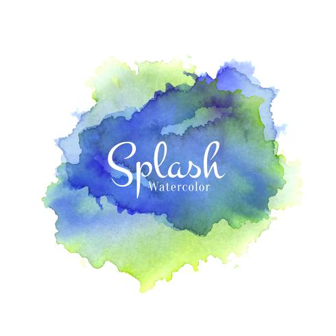 Colorful watercolor splash hand drawn design