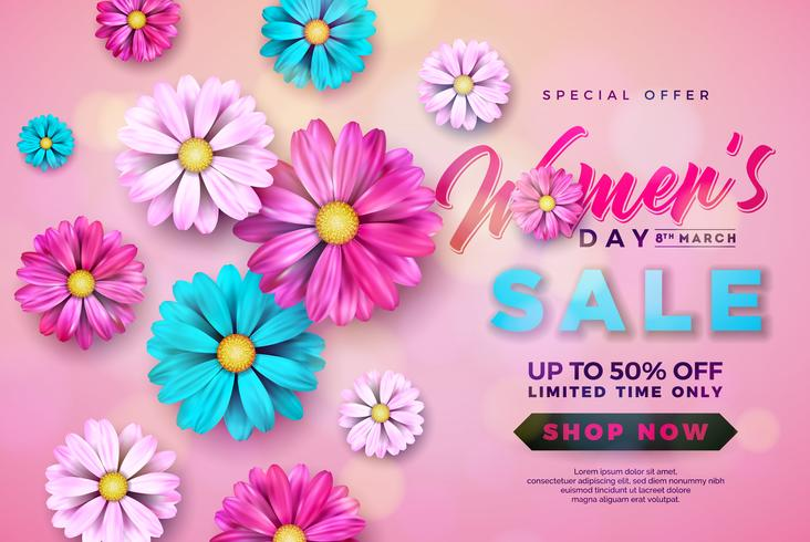 Kvinnors Day Sale design