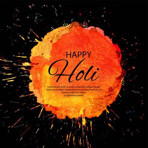 Schönes glückliches indisches Frühlingsfest Holi des Farbhintergrundes