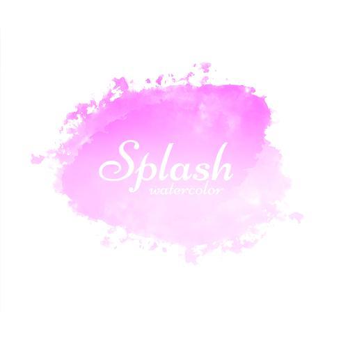 Modern watercolor splash design vector
