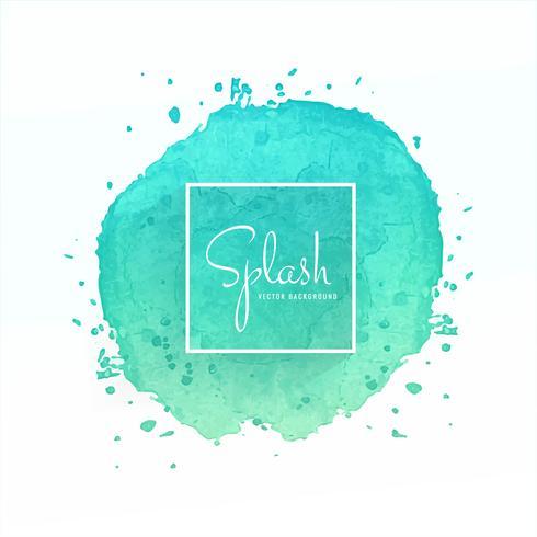 Hand drawn colorful soft watercolor splash design