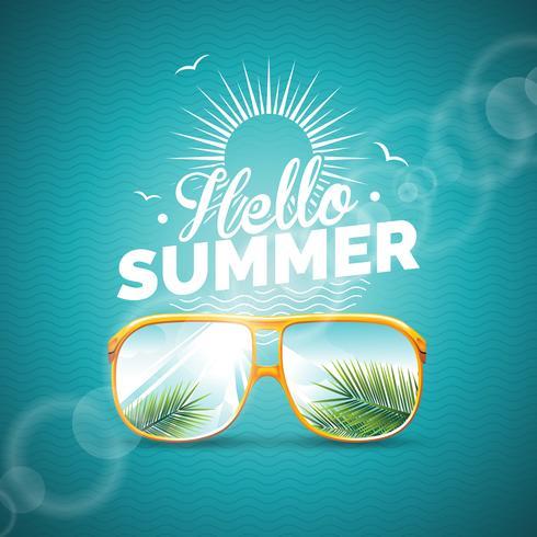 Illustration du thème des vacances d'été