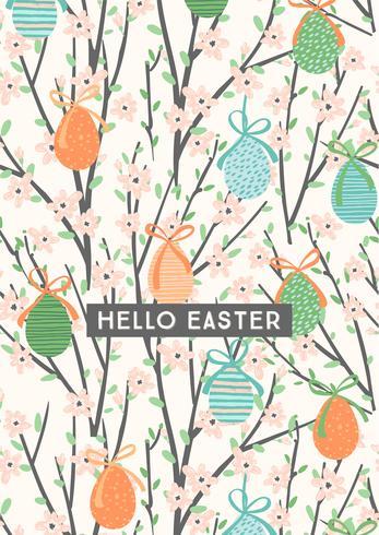 Felices Pascuas. Plantilla de vector