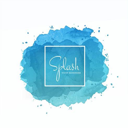Eleganter blauer Spritzenaquarellhintergrund