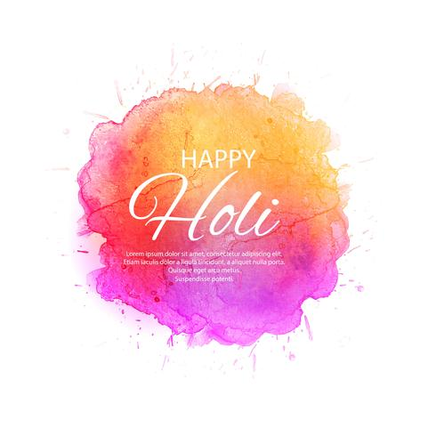 Beautiful Happy Holi Indian spring festival of colors background