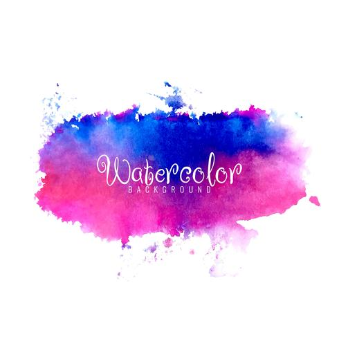 Abstract watercolor splash design background