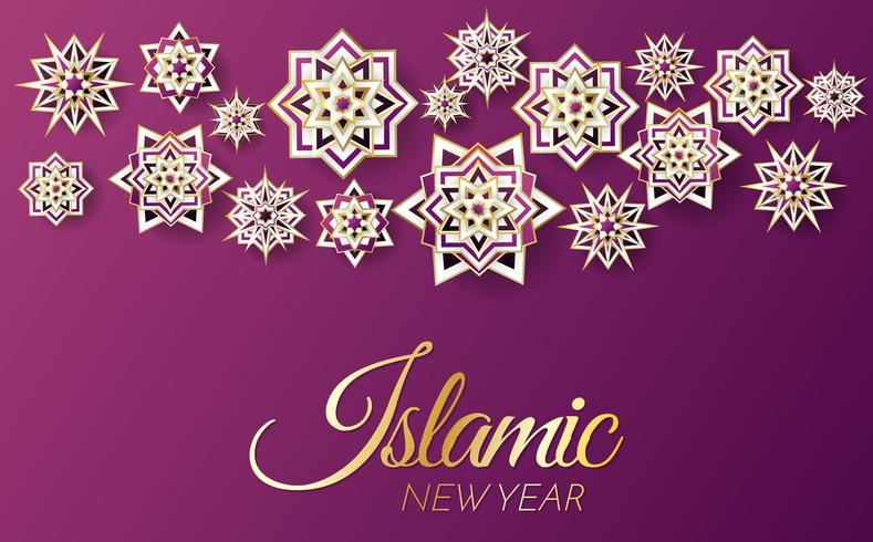 islamic background template Vector