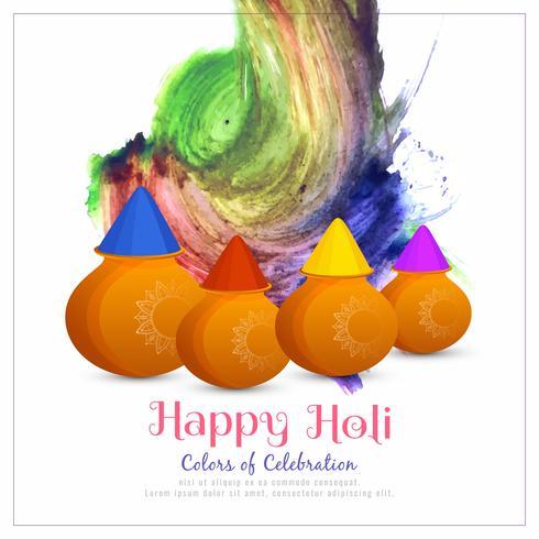 Abstrakt Glad Holi färgglada fest bakgrund