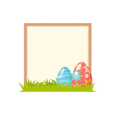 Happy easter day background in flat style