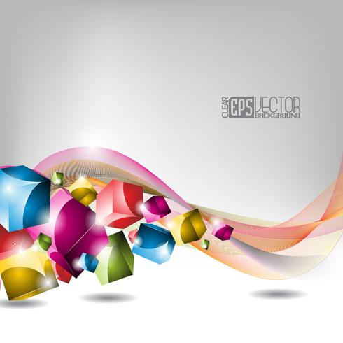 color dice background vector
