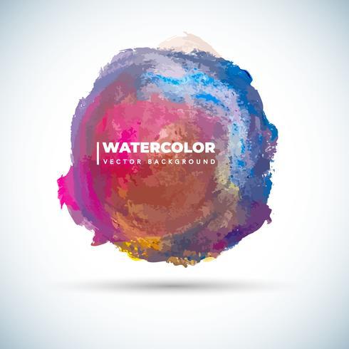 Cirkulär Grunge vattenfärg