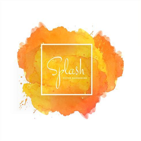 Beautiful soft splash watercolor design