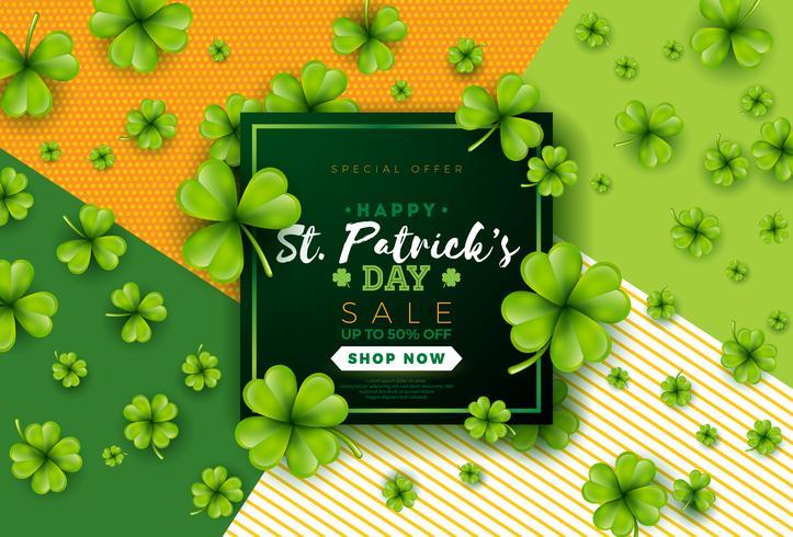Diseño de la venta del día de San Patricio vector