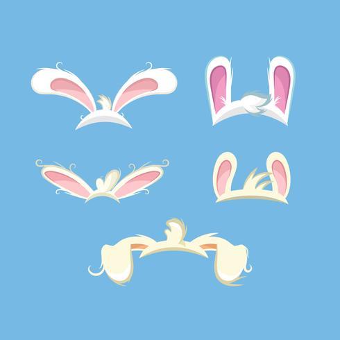 Conjunto de orelhas de coelho engraçado