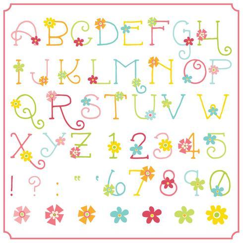 Frühlingsblume Alphabet