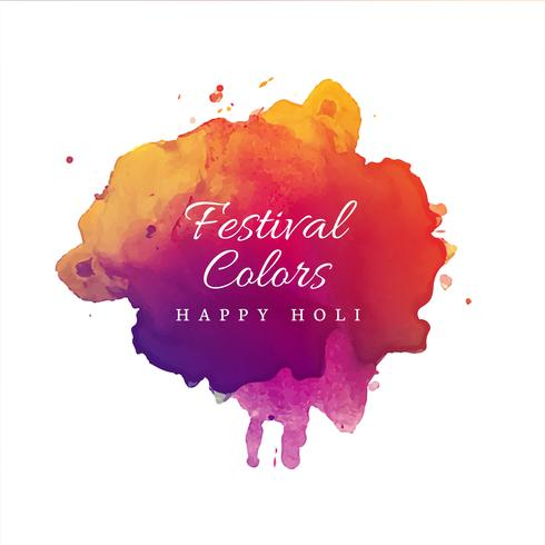 Happy Holi Indian spring festival of colors background