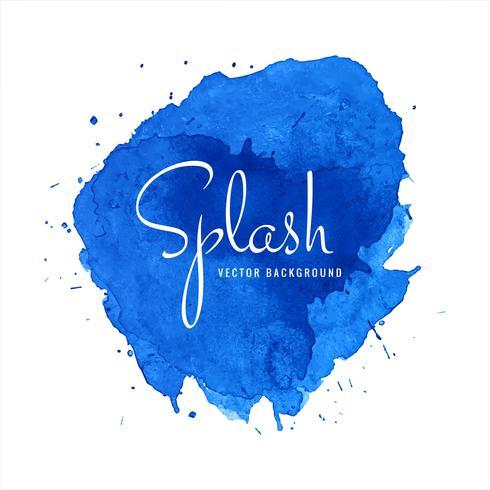 Beautiful Blue Watercolor Splash Design