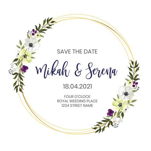 blommig bröllopsram design