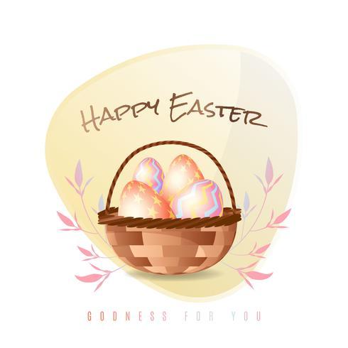 Illustrazione di poster di Pasqua