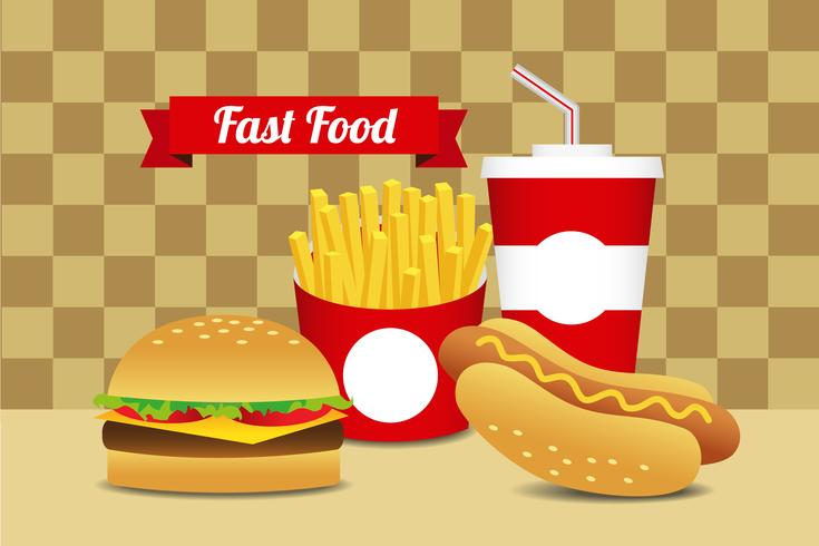 Set di fast food 10 vettore