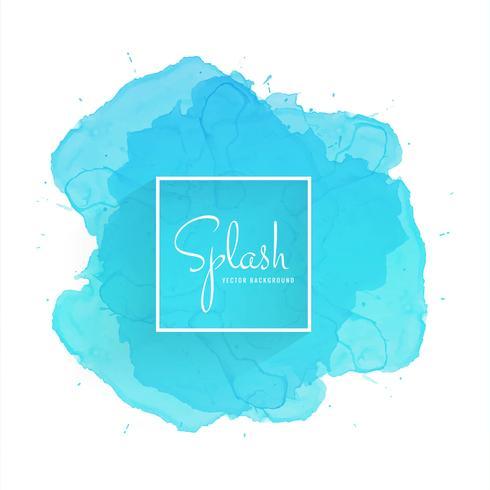 Splash blue watercolor background