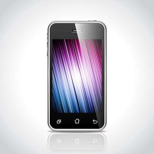 Vektor teknik styled illustration med glänsande telefon.